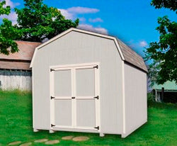 Value Gambrel Wood Storage Shed Kit (with 6' Sidewalls)