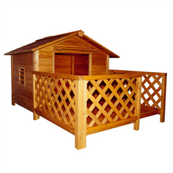 Amazing Dog House with Chimney & Porch (medium and large breeds)