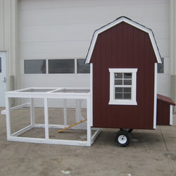 Little Cottage Gambrel Barn Run Chicken Coop Panelized Kit w/floor - 4L x 4W ft.