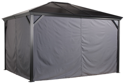 Sojag Grey Curtains for Verona - Gazebo Not Included