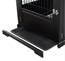 Zoovilla Fairview Triple Door Large Crate in Black