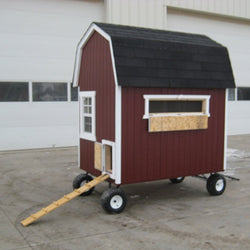 Little Cottage Barn Chicken Coop with Wheels Panelized Kit w/floor - 4L x 6W ft.