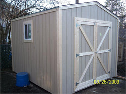 10' x 12' Gable Style Wood Shed Kit