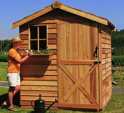 Gardener Cedar Wood Shed Kit - 6 Sizes Available