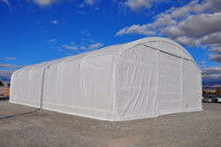 Rhino Domed Round Truss Building 40'Wx60'Lx18'H (White)