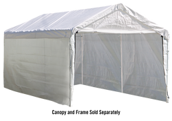 ShelterLogic Canopy Enclosure Kit for the SuperMax 12 ft. x 20 ft. (Frame and Canopy Sold Separately)