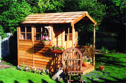 Gardener's Delight Cedar Wood Shed Kit - 2 Sizes Available