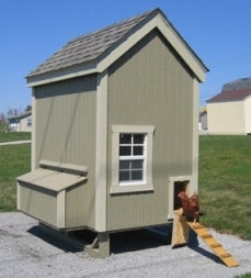 Little Cottage Colonial Style Coop Panelized Kit w/floor