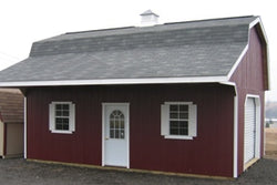 Classic Large Barn Kit with Overhang Panelized kit w/ floor