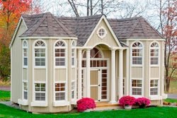 Little Cottage Grand Portico Mansion Panelized Kit w/floor