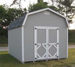 Classic Barn Wood Storage Shed (Sizes 8' x 8' to 12' x 24') Prebuilt w/ floor kit