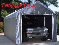 King Canopy 10 x 20  Side Wall Kit with 2 Zippered End Walls, 2 Solid Side Wall, 50 Ball Bungees