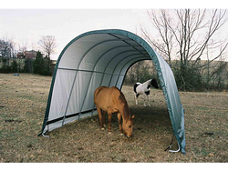 ShelterLogic 13 x 20 ft.  Round Style Run-In Shelter, Green Cover