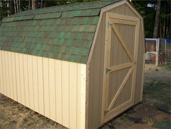 8' x 12' Barn Style Wood Shed Kit