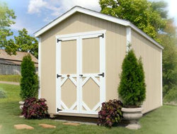 "Little Cottage Classic Garden Gable Shed Kit ""Panelized Kit (wood) no floor"""