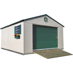 12'x21' Steel Weatherproof Storage Building w/ Foundation Kit