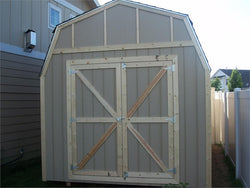 10' x 16' Barn Style Wood Shed Kit