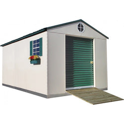 10'x16' Steel Weatherproof Storage Building w/ Foundation Kit