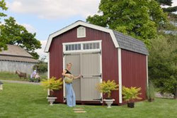 Colonial Woodbury Wood Shed Kit (with Pre-Cut Parts)