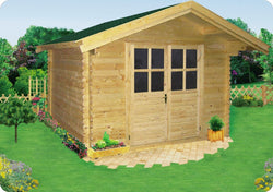 Douglas 10 x 8 Wood Storage Shed Kit with Porch