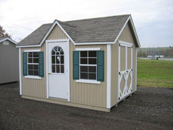 Cottage Style Wood Shed Kit (Sizes 8' x 12' to 8' x 16')