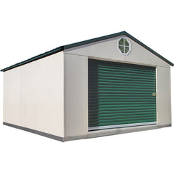 12'x16' Steel Weatherproof Storage Building w/ Foundation Kit
