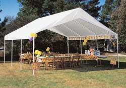 "King Canopy A-Frame Hercules Canopy - 18' x 20' x 11'6""- 8 Legs - 180g/m2 Fitted Cover w/ Drawstring - White"