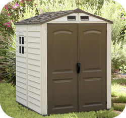 6x6 StoreMate Vinyl Shed with Floor