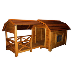 Large Dog House With Covered Porch