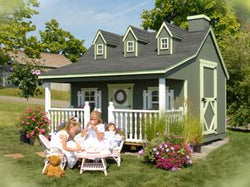 Little Cottage Pennfield Cottage Playhouse Panelized Kit with Floor