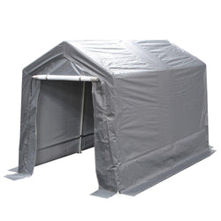 King Canopy 7' x 12'  A-Frame Enclosed Storage Garage / Shed - 6 Legs - 1245 gsm Cover - Enclosed
