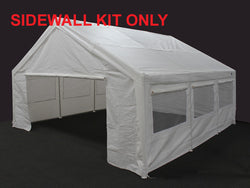 King Canopy 20 x 20 Side Wall Kit with 2 Zippered Ends & 2 Side Walls w/Flaps & Bug Screen Windows, 50 Ball Bungees