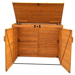 Large Trash & Recycling Versatile Storage Shed Unit
