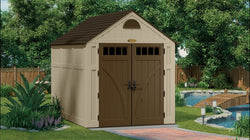 Suncast 497 Cu. Ft. Brookland 7 x 10 Storage Shed