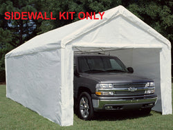 King Canopy 10 x 27  Side Wall Kit :  2 Zippered End Walls, 2 Side Walls w/ Flaps, 50 Ball Bungees