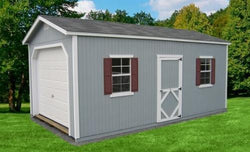 "Little Cottage Classic Garage - Wood ""Panelized Kit (wood) no floor"""