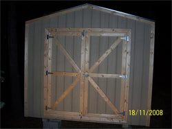 10' x 16' Gable Style Wood Shed Kit