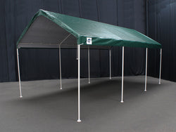 "King Canopy A-Frame Universal Canopy - 10' x 20' x 9'9"" - 8 Legs -Fitted Cover w/ Drawstring - Green"