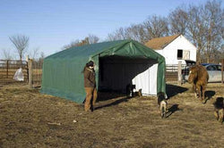 Rhino Horse/Livestock Run In Shelter House 12'Wx12'Lx8'H