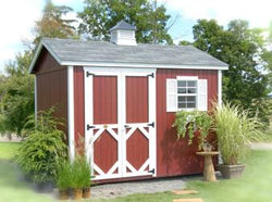 "Little Cottage Classic Garden Workshop Shed Kit (""Panelized Kit (wood) no floor"")"