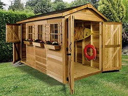 Boathouse Cedar Wood Shed - 5 Sizes Available