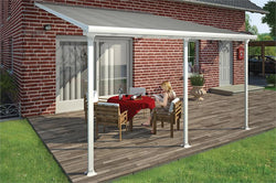 13' White/Clear Patio Cover Kit (8 Sizes Available)
