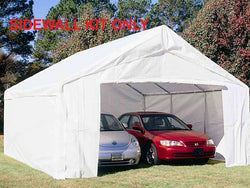 King Canopy 18 x 27 Side Wall Kit with 2 Zippered End Walls, 2 Side Walls w/ Flaps, 50 Ball Bungees
