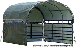 Shelterlogic Enclosure Kit for corral Shelter - 12x12 ft Green