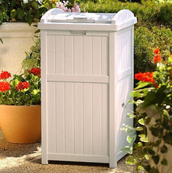 Suncast Highly Durable Resin Plastic Trash Hideaway Storage Solution