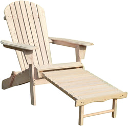 Northbeam Adirondack Chair Kit with Pullout Ottoman