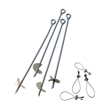 "ShelterLogic 4 Pcs 30"" Auger Anchor"