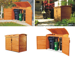 Trash & Recycling Versatile Storage Shed Unit