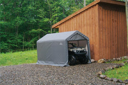 "ShelterLogic Shed-in-a-Box 6' x 10' x 6' 6"" - Gray"