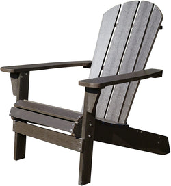 Northbeam Faux Wood Relaxed Adirondack Chair, Espresso